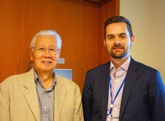Alumnus Dr. Yasuyuki Horie Visits ICU-min